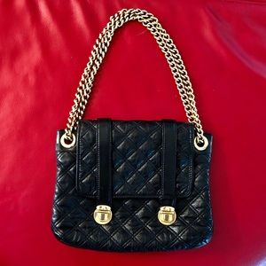 MARC JACOBS Quilted Chain Black Purse Handbag Bag